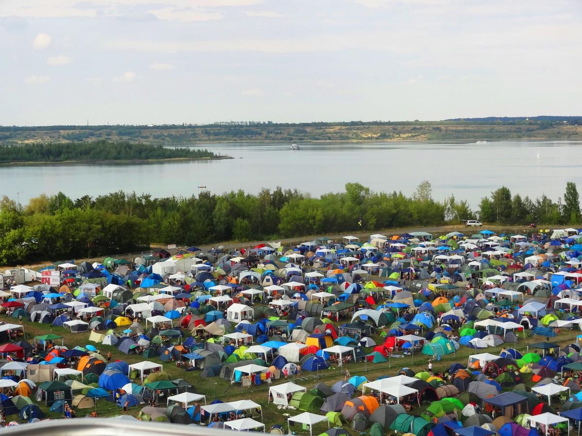 Die Aussicht auf den Störmthaler See. (Photo: Festivalrocker)