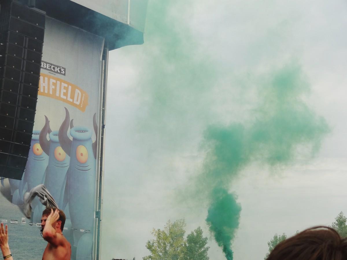 """""""Pyrotechnik ist kein Verbrechen."""" (Photo: Festivalrocker)"""